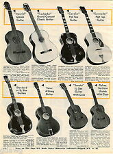 1967 ADVERT 2 PG Guitars Imperial Classic Guitar Valencia Grand Concert Ukulele
