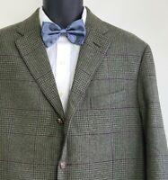 Polo Ralph Lauren X Corneliani Wool Angora Blend Green Sport Coat Jacket 46 Long