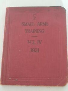 Small Arms Training VOL IV 1931 Manual