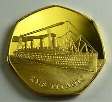 RMS TITANIC 24ct Gold Commemorative Albums/Filler Collectors. White Star Line