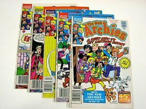 LOT run, set: The New Archies 1 2, 4, 5, 6 (1984 Archie) VF+ Dan DeCarlo