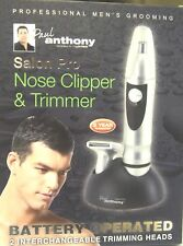 BATTERY OPERATED PAUL ANTHONY SALON PRO NOSE CLIPPER & TRIMMER WITH 2 HEADS