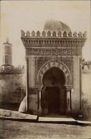 ND, Algérie, Oran, Porte de la Mosquée du Pacha  Vintage albumen print.  Tirag