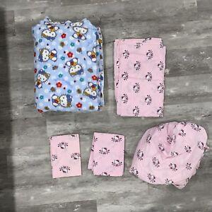 Sanrio HELLO KITTY Full Size 5 Pc Bedding Set With 14' x 5' Soft Plush Blanket