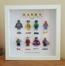PERSONALISED DADDY SUPERHERO FRAME BIRTHDAY GIFT UNCLE DAD GRANDAD