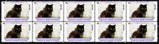 Chantilly Tiffany Feline Friends Cat Breeds Strip Of 10 Mint Stamps