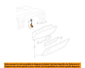 GM OEM-Glove Compartment Box Light 12450028