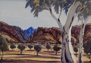 "Arnulf Ebatarinja (Aust Aboriginal) ""Untitled landscape"" Watercolour Painting"