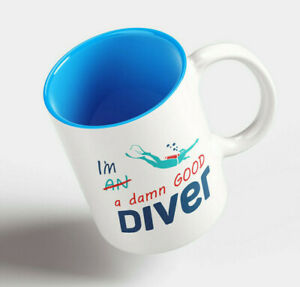 Scuba Diving Funny Mugs Novelty Mug Perfect Divers Gift Idea Tea Cup Drink Gifts