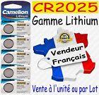 Piles boutons au choix : CR2025 ou CR2032 CR2016 CR1632 CR2430 CR2450 Lithium 3V