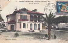 MARSEILLE expo internationale d'électricité 1908 maison moderne timbrée 1908