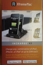 XtremeMac Incharge x2 Duo Charger for iPhone/iPod/iPad - 10w Dual Changing Dock