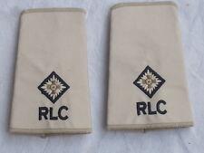 Rangschlaufen: 2nd Lieutenant ,RLC,Royal Logistic Corps,cremeweiß