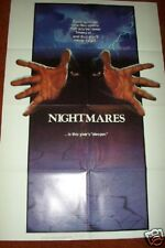 """NIGHTMARES  1983  HORROR  folded  27 x 41"""" Movie Poster"""