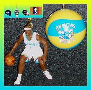 NBA NEW ORLEANS HORNETS DAVIS FIGURE & LOGO OR NBA BASKETBALL CEILING FAN PULLS