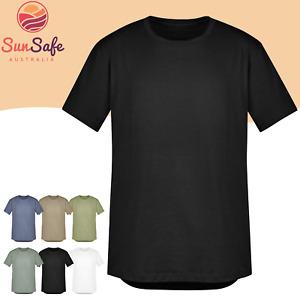 Men's Streetworx Tee Shirt Syzmik Workwear UPF Sun Safe Slim Fit Cotton ZH135