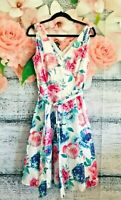 TARGET COLLECTION Pink and White Floral V Neck Dress Womens size 12