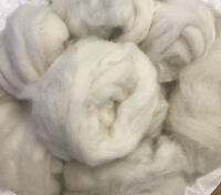 Wool Tops-Botany Lap Waste-Natural Colours-Greys-Browns-Whites-Yarn Ends-Fibers