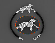 Bracelet Chien STAFFORDSHIRE BULL TERRIER Argent & Cuir - Bracelet STAFFIE DOG