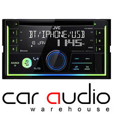 JVC Double Din MP3 WMA CD USB AUX Car Stereo Receiver Bluetooth Player