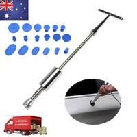 Car Body Slide Hammer T Bar Puller Tools Dent Remover Repair 18 Tabs Kit Set AU