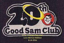 LMH Patch 1966 1986 GOOD SAM CLUB Motor Home RV Camper 20th ANNIVERSARY Sam's