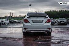Rear diffuser Hyundai Solaris/Accent/Verna 2014-2016 (I gen rest) [Unpainted]