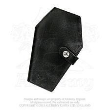 Black Leather Coffin Wallet Casket Bifold Wallet Alchemy Gothic