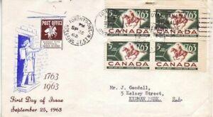 Canada - Anniversaries, Events, People & Wildlife (4no. CPC FDC's) 1963