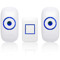 Wireless Doorbell Waterproof Door Bell Remote Transmitter Receiver 36 Chimes