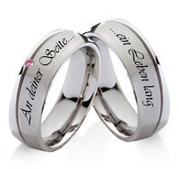 Eheringe Trauringe Verlobungsringe mit echtem Rhodolite Ringe Lasergravur  H173