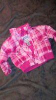 Girls Snozu Climate Gear Pink Plaid Jacket Size 2T