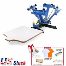 US 4 Color Screen Printing Press Machine Silk Screening Pressing with 1 Station
