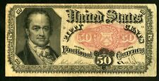 US Paper Money 1875 50c Fractional Currency NO RESERVE!
