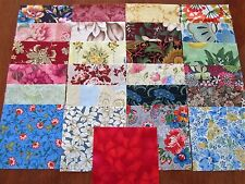 25 x 5' CHARM SQUARES  DIFFERENT FLOWERS 100% Cotton Fabric Sewing Material N11