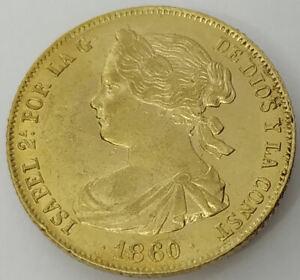 Isabel II 100 Reales 1860 Madrid ORO