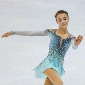 Elegance  Ice Figure Skating Dress Baton Twirling Dance Dress Competition xx729