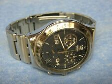 """Men's 2002 SWATCH """"Irony"""" Water Resistant Chronograph Watch w/ New Battery"""