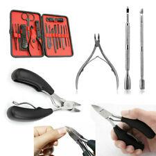 3/15pcs Manicure Cutter Cuticle Set Clipper Earpick Grooming Pedicure Case Tool