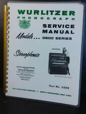 Wurlitzer 3800 3810 3860 Jukebox Service Manual *lots included*(Amr Deluxe Book)