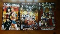Grimm fairy tales- The Dark one.. Giant size 2014.  Realm war age of darkness #1