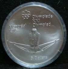 1976 MONTREAL OLYMPICS SILVER $ 5 COIN CANADA MINT 1974 - ROWING Coin 12/28