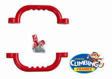 Red HAND GRIPS GRAB HANDLES (Set of 2) Climbing Frame Playhouse Tree House
