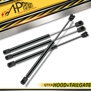 A-Premium Bonnet + Rear Tailgate Gas Struts for Chrysler 300C Sedan 2005-2010
