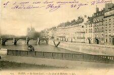Carte PARIS Ile Saint Louis Quai de Béthune