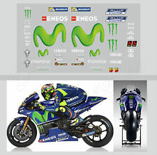 ADESIVI YAMAHA MOTO GP 2017 VALENTINO 46 THE DOCTOR MONSTER MOVISTAR SPONSOR !!!