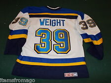 DOUG WEIGHT Youth L/XL St Louis Blues Hockey CCM Jersey Large/ Extra Large As Is