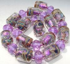 "Sistersbeads ""Spring Iris"" Handmade Lampwork Beads"
