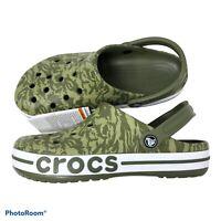 Crocs Bayaband Seasonal Camo Vines print  Men 9 / Women 11 Clogs Shoes NWT