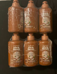 6 GARNIER Whole Blends SMOOTHING LEAVE-IN CONDITIONER COCONUT OIL & COCOA BUTTER